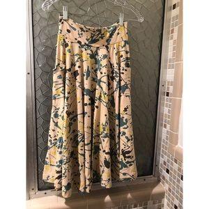 ANTHROPOLOGIE Effie's paint splatter twirl skirt
